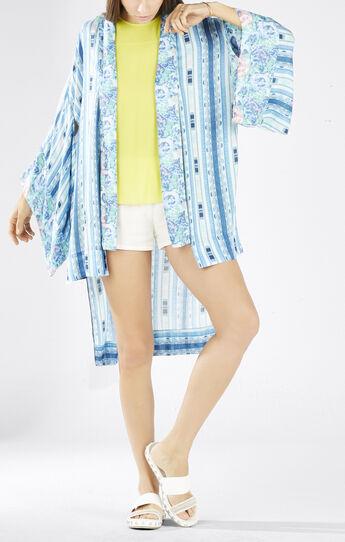 Tildie Ikat Printed Kimono Top