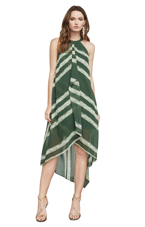 Lana Shibori-Print Halter Dress
