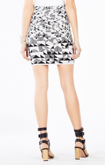 Pavel Triangle Knit Jacquard Power Skirt