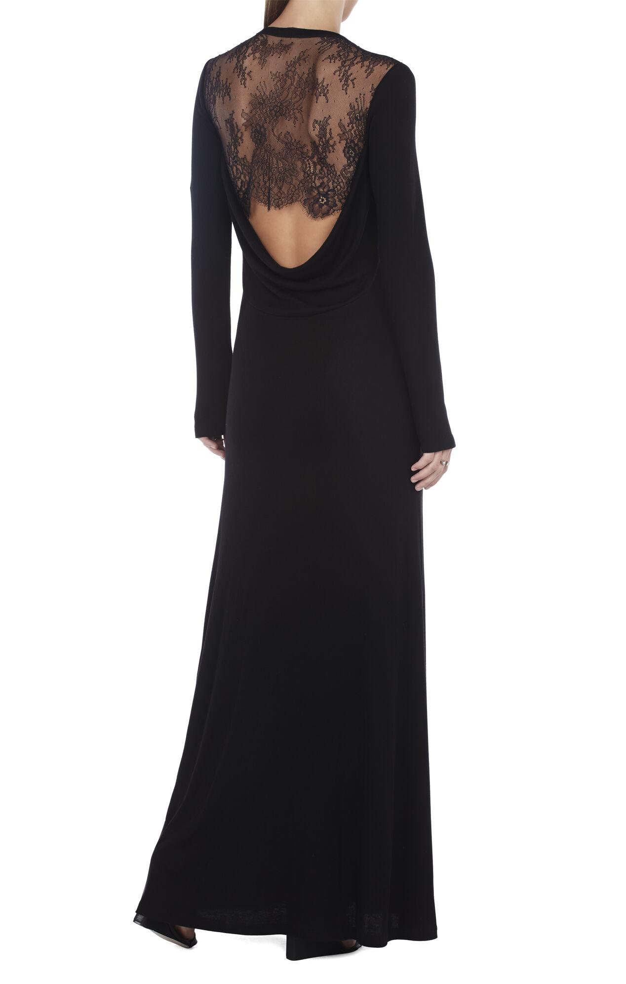Jeniffer Open Cowl-Back Long Dress