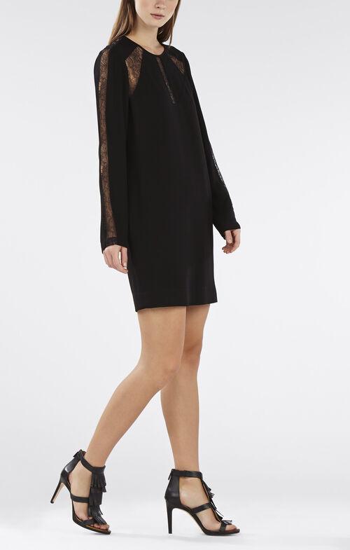 Payten Long-Sleeve Lace-Insert Shift