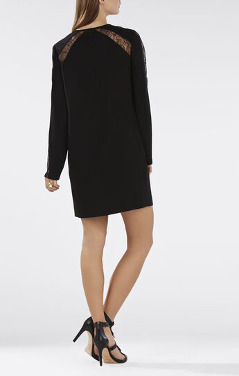 Payten Long-Sleeve Lace-Insert Shift