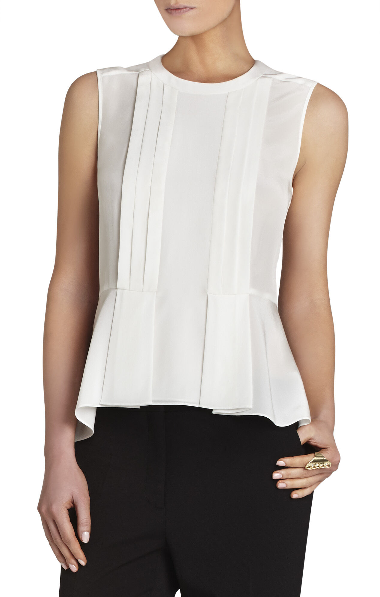 Desiree Sleeveless Tuxedo Tank