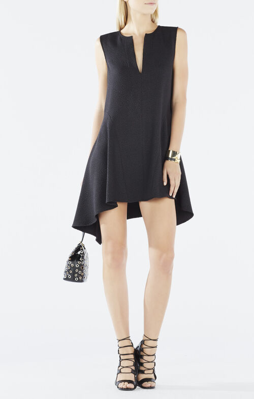 Bette Draped Woven Jacquard Dress