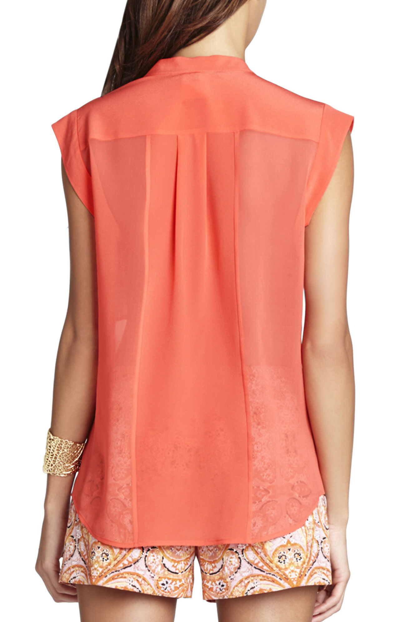Addison Silk Sleeveless Blouse