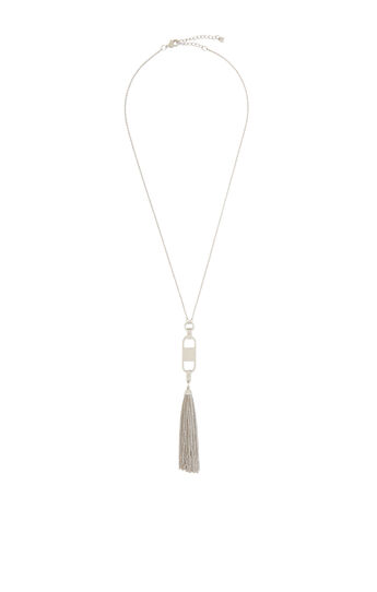 Hammered Tassel Necklace