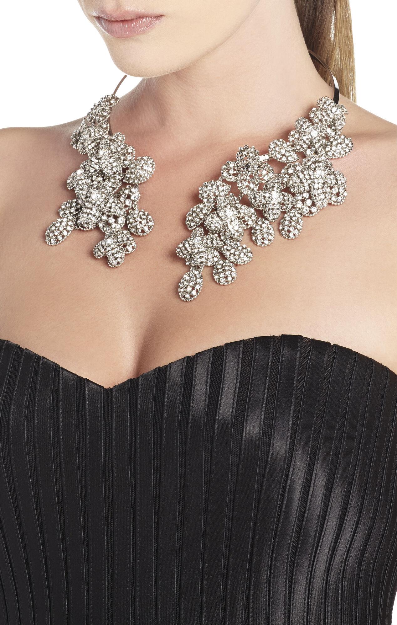Floral Stone Cascade Necklace