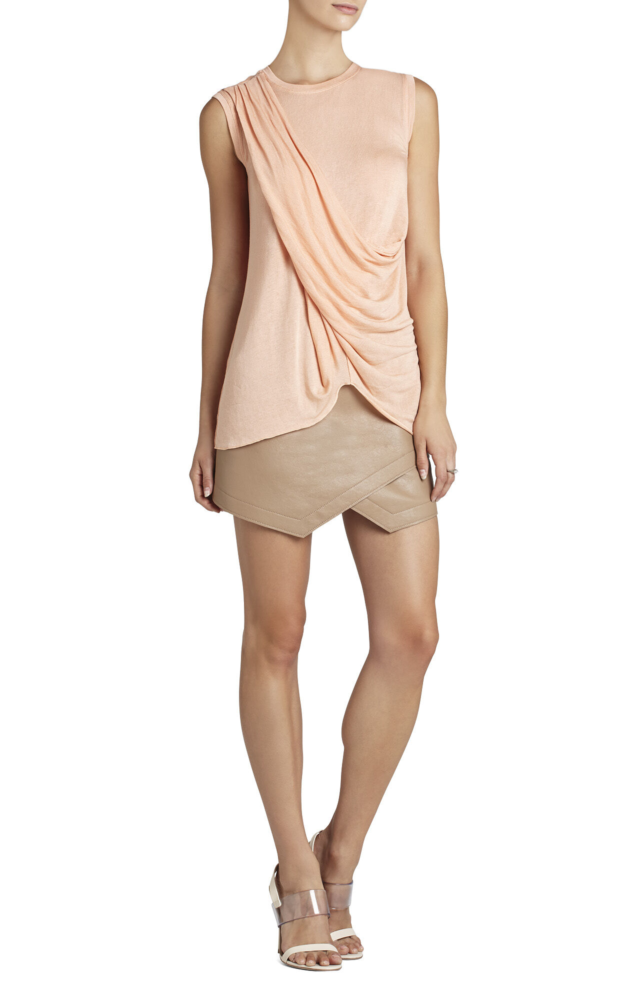 Rumor Sleeveless Crisscross Top