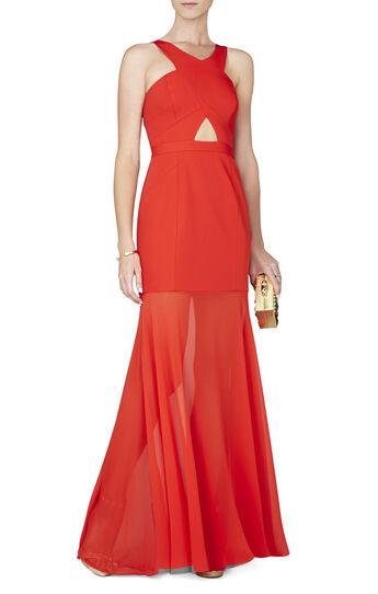 Ria Crisscross-Front Gown