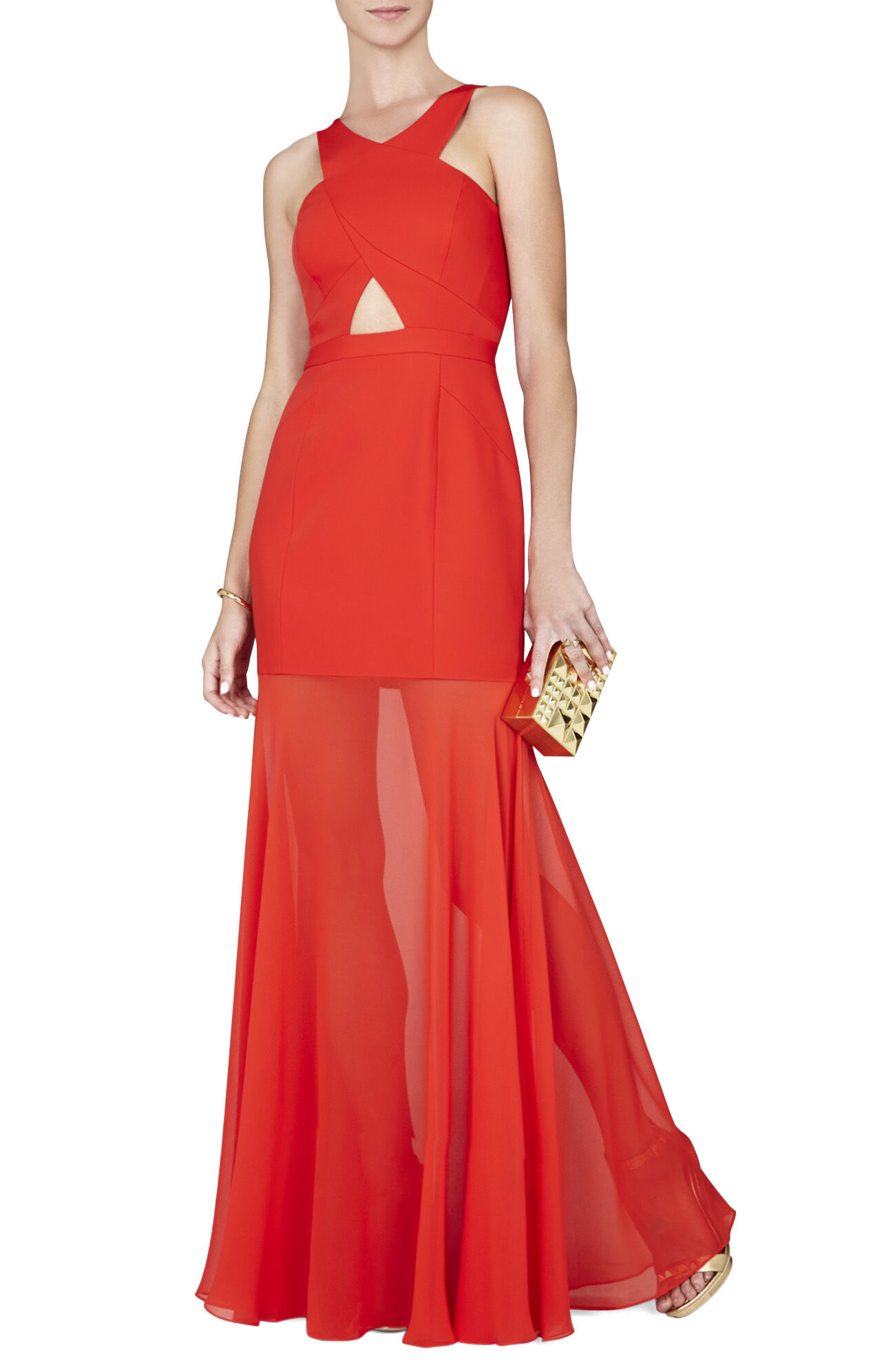 Ria Crisscross-Front Gown