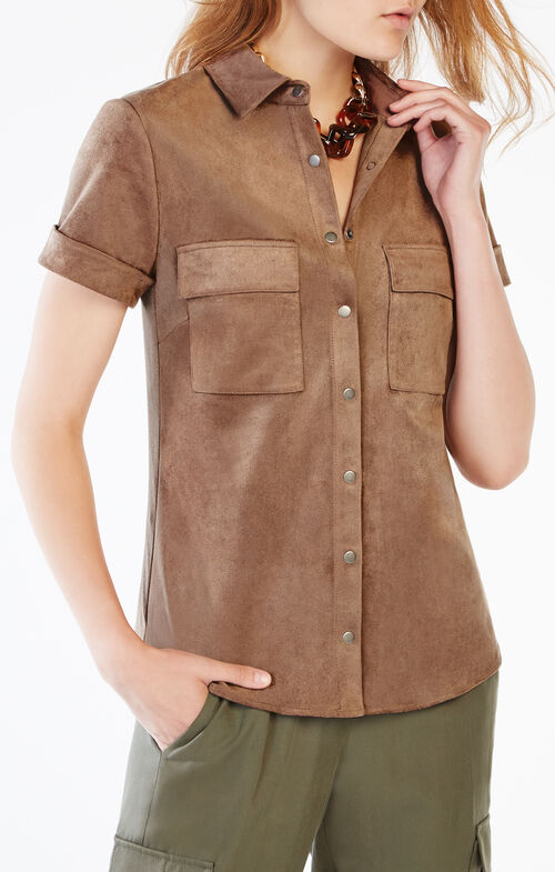 Esther Faux-Suede Shirt