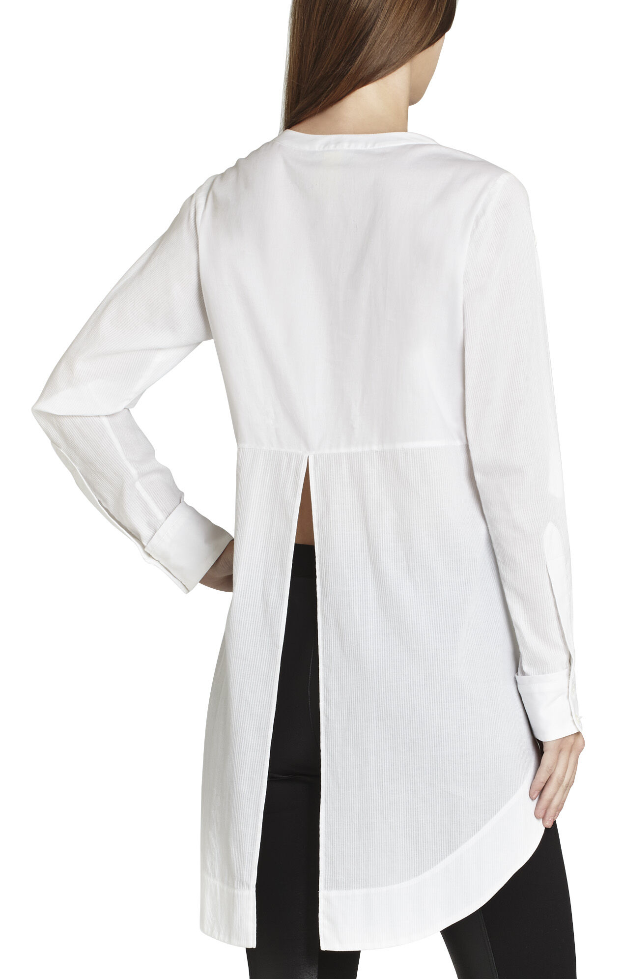Chloie Double-Placket Long Shirt