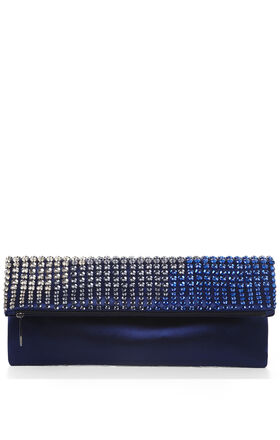 Carina Ombre Jewel Fold-Over Clutch