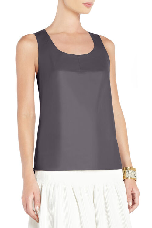Jett Faux-Leather Tank Top