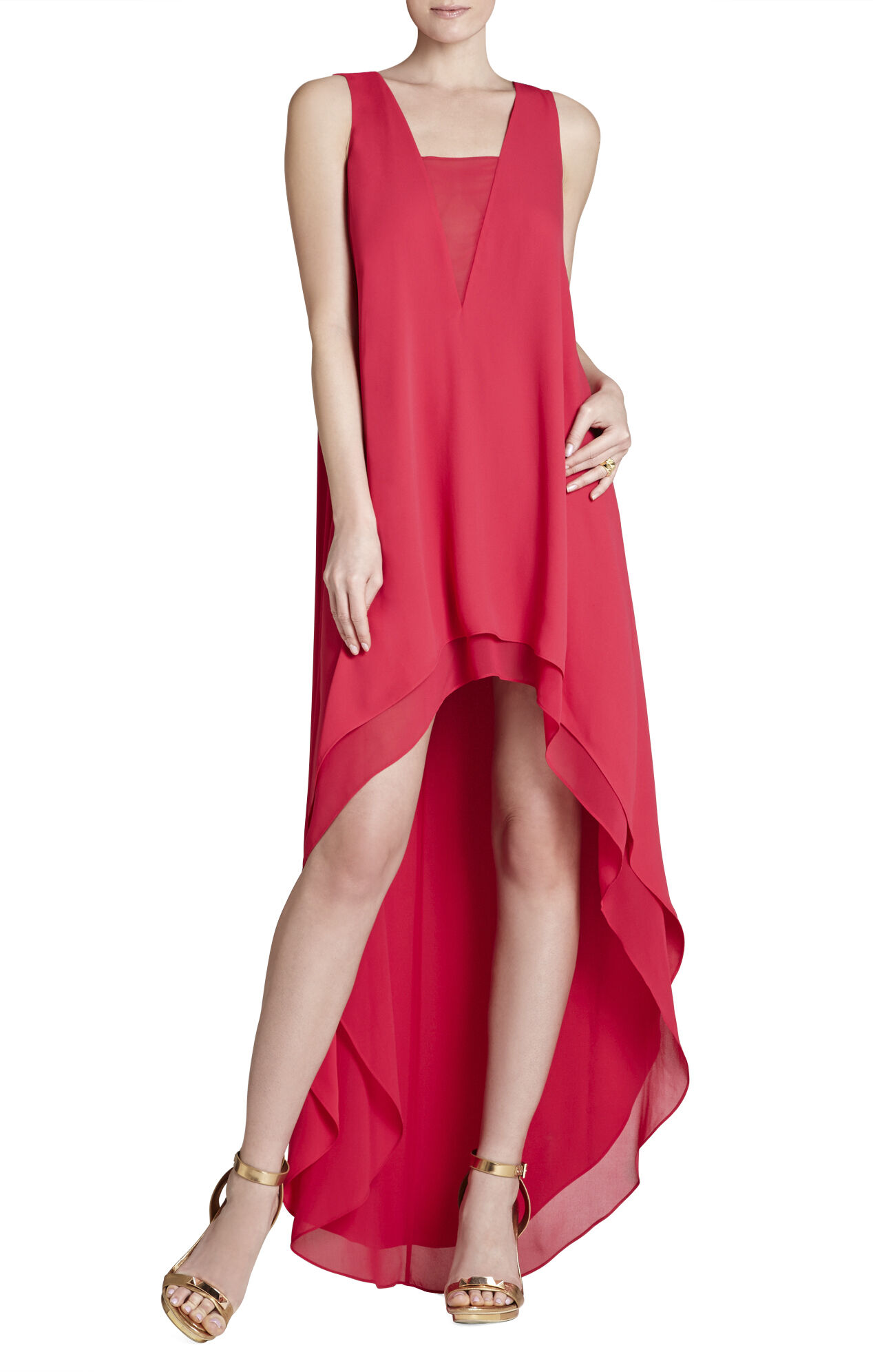 Ivana Asymmetrical-Hem Dress