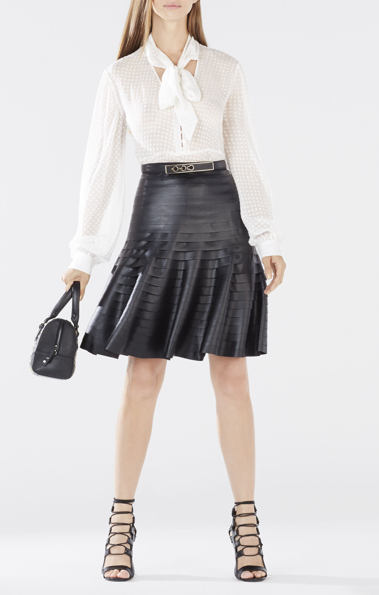 Shanina Pleather-Strapped Skirt