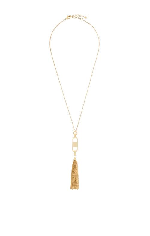 Hammered Tassel Necklace