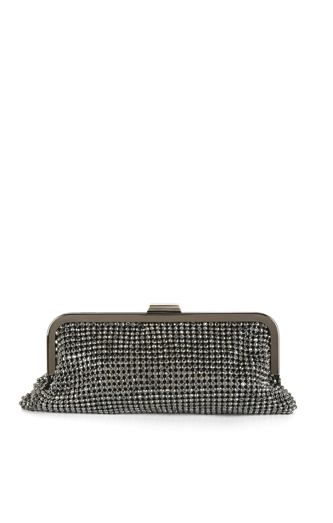 Rue Crystal Chain-Mesh Clutch