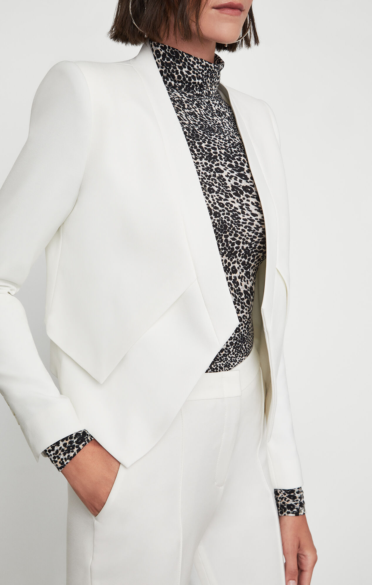 Lloyd Open-Front Layered Jacket