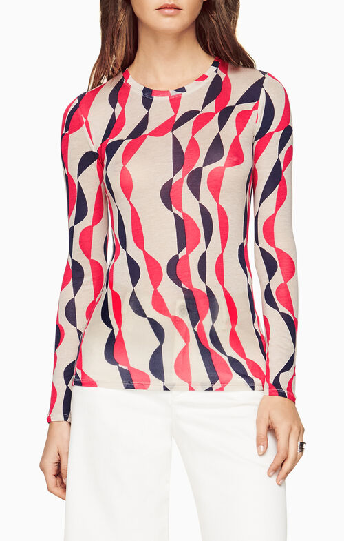 Agda Deco-Printed Top
