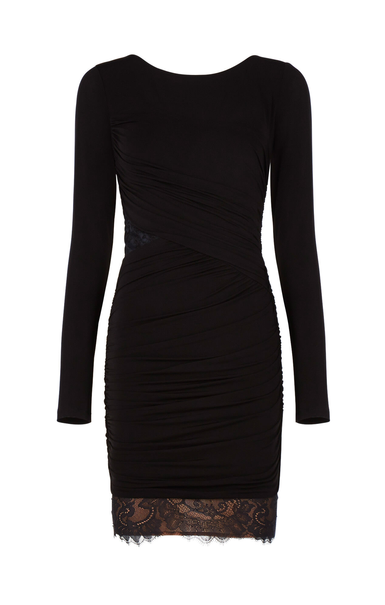 Clio Lace-Blocked Ruched Dress