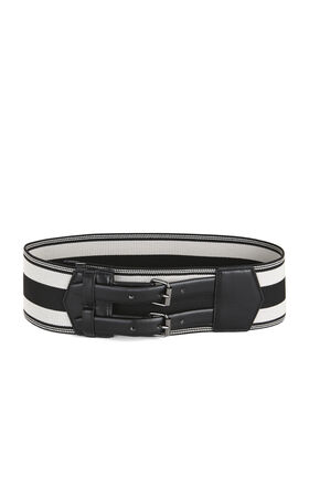 Elastic Stripes Waist Belt