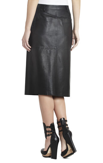 Runway Petra Leather Skirt