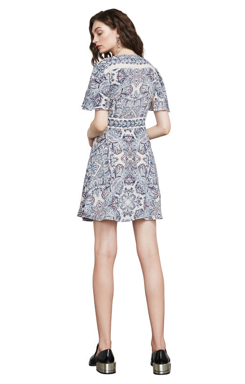 Kylie Paisley-Print Wrap Dress