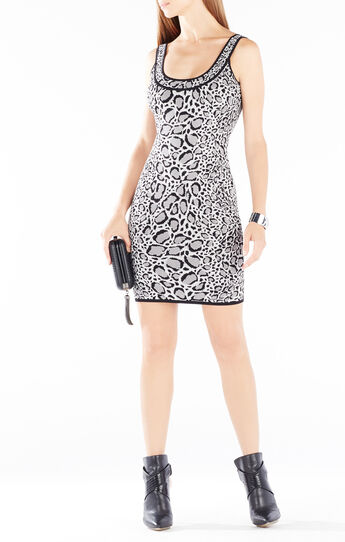 Tory Ocelot Jacquard Body-Con Dress