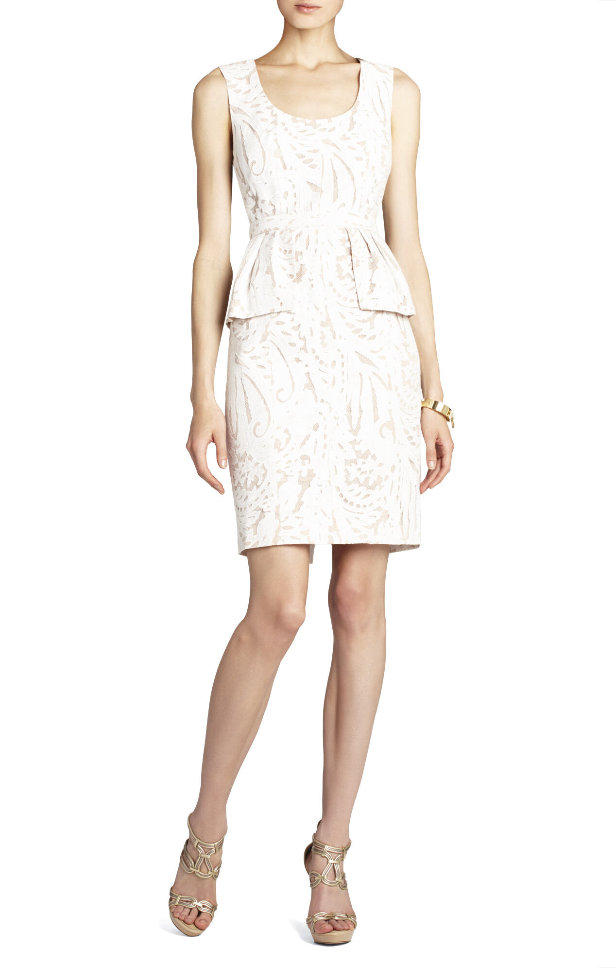 Etna Lace Peplum Cocktail Dress