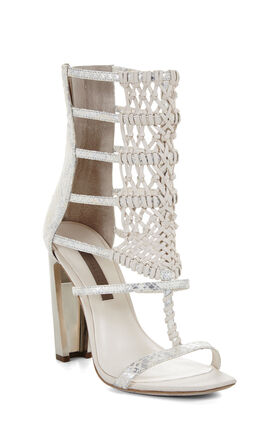 Post High-Heel Macrame Day Sandal