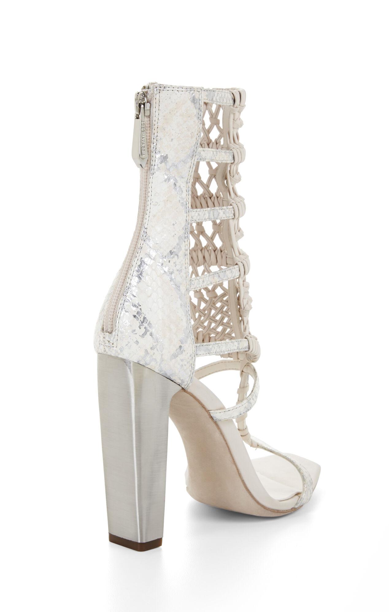Post High-Heel Macrame Day Sandal