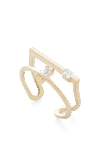 Stone Geometric Cuff Bracelet