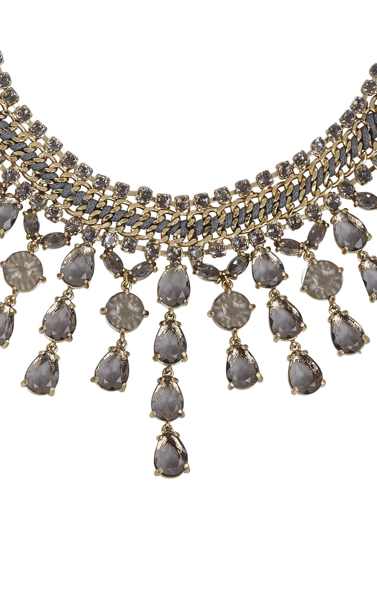 Corded Gemstone Necklace