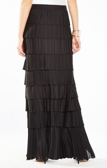 Janna Combination Pleated Skirt