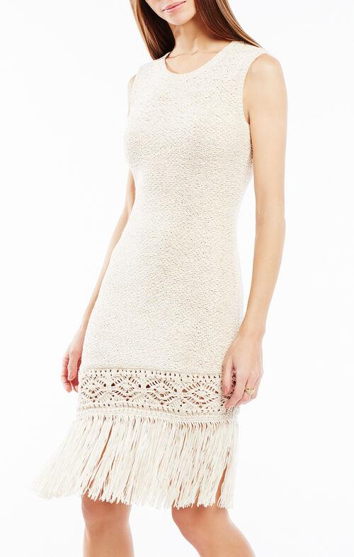Jocelynn Asymmetrical Fringe Dress
