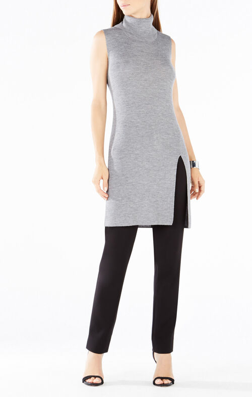 Ameuya Turtleneck Wool Tunic Sweater
