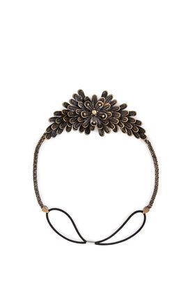 Metal Floral Elastic Headband