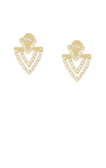 Pave Chevron Earrings