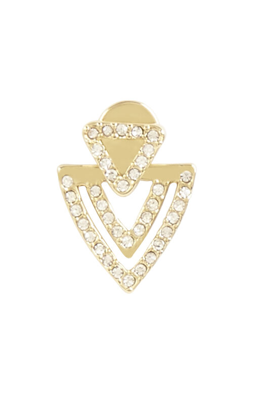 Pave Chevron Earrings