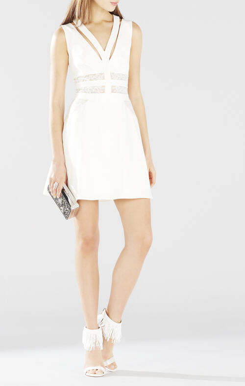 Karleigh Block Embroidered Dress
