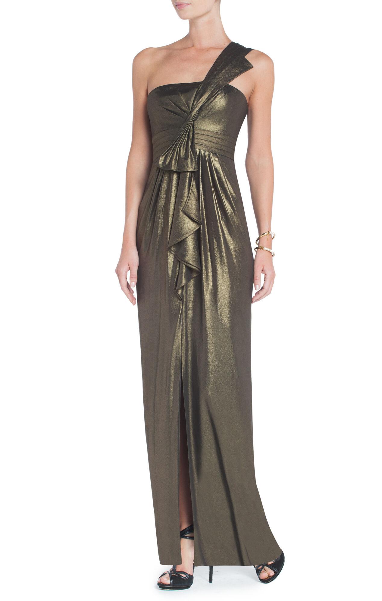 Barbara One-Shoulder Evening Gown