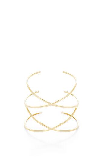Pave Stone Double Crisscross Cuff Bracelet