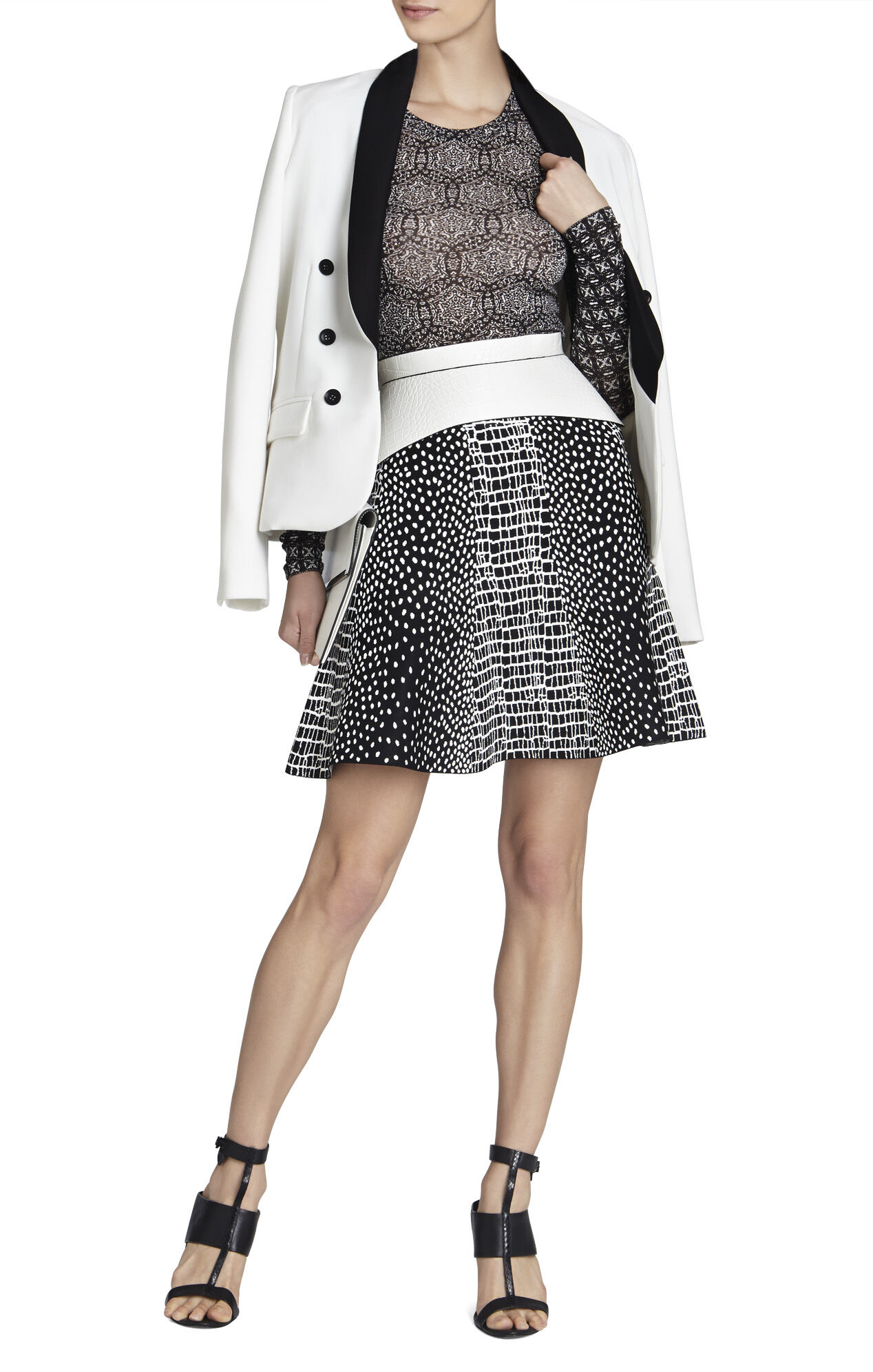 Peyton Croc-Jacquard Skirt