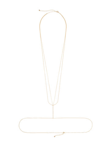 Pave Bar Body Chain