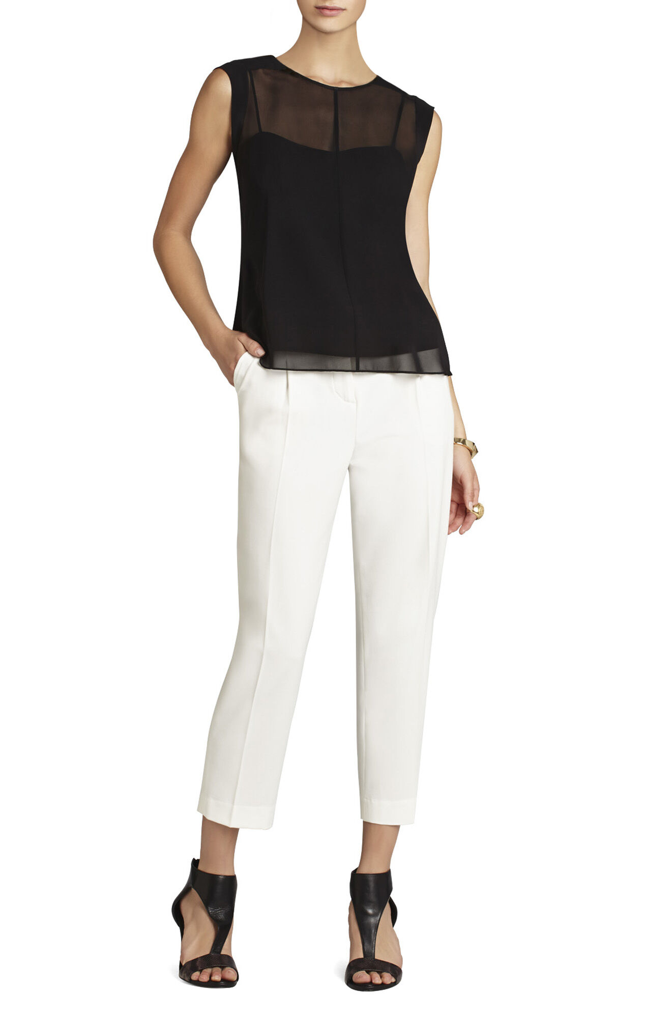 Seline Sleeveless Top With Cami