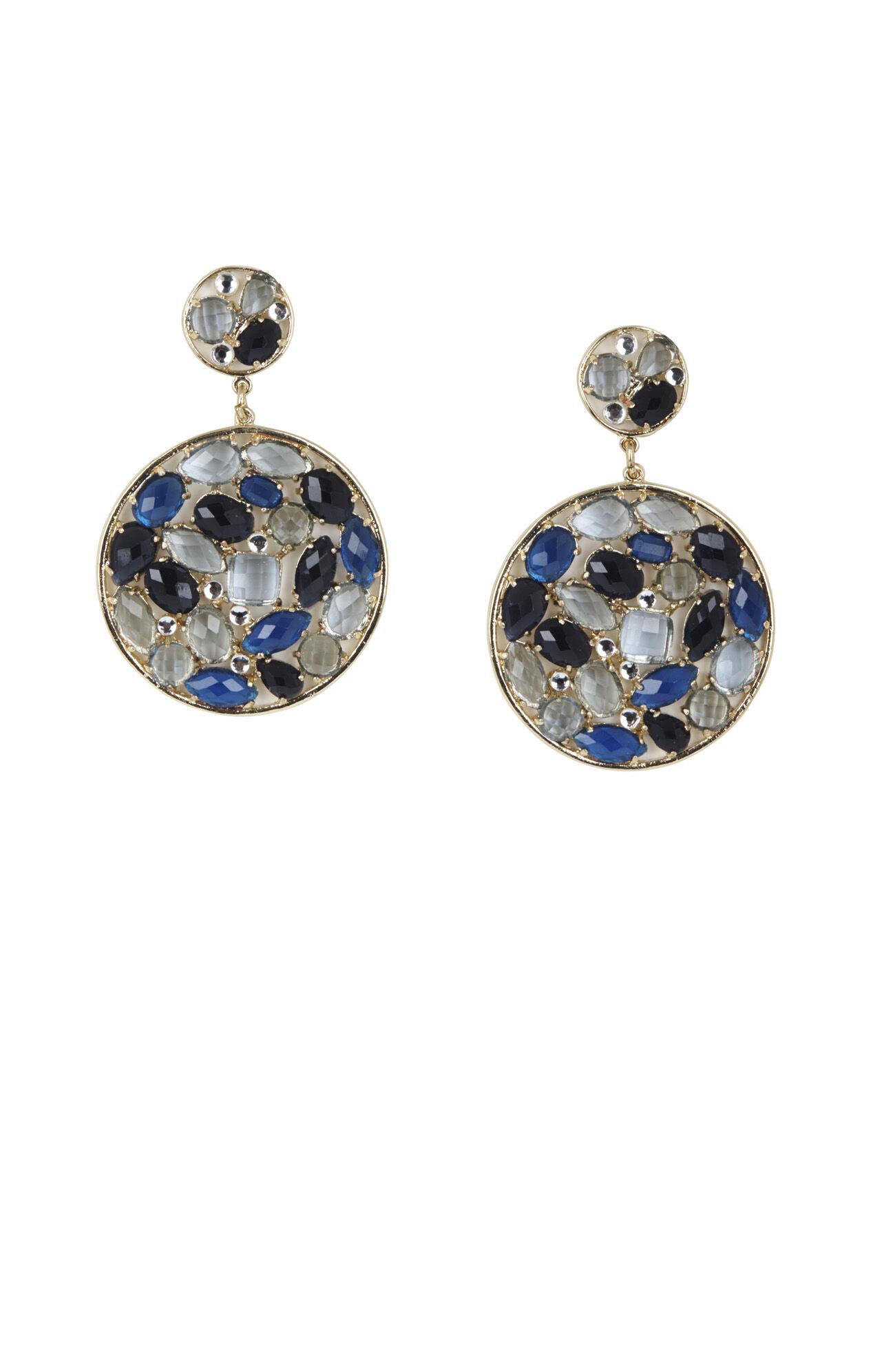 Stone Disc Earrings