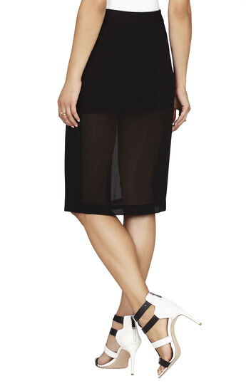 Francesca Chiffon-Panel Pencil Skirt
