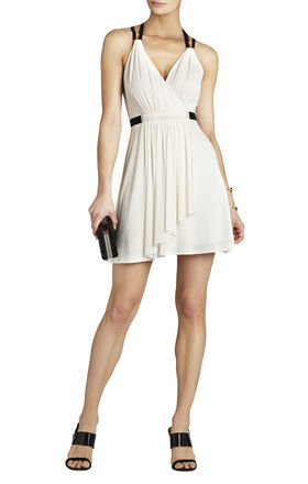 Saige T-Strap Wrap Dress