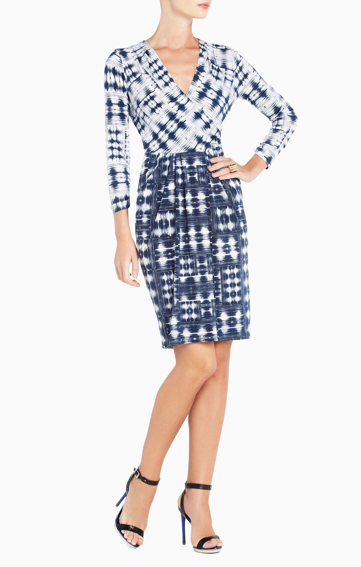 Jaslyn Printed Side-Pocket Dress